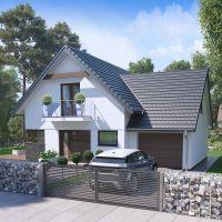 Proiect casa moderna cu mansarda destinata pentru 4-5 persoane