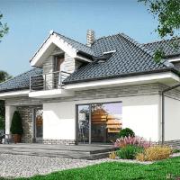 Model de casa moderna cu mansarda in suprafata utila de 173 mp