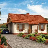 Casa mica si frumoasa doar cu parter! Proiectul este superb iar pretul este accesibil