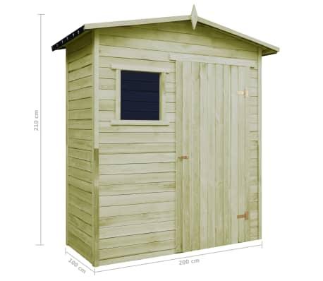 sopron de grădină pentru depozitare, lemn de pin tratat (modele de casute de gradina din lemn)