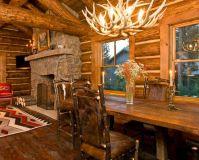 Interioare de vis din cabane rustice de lemn 13