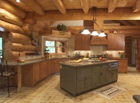 Interioare de vis din cabane rustice de lemn 25