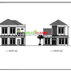 Gambar Rangka Atap Baja Ringan Limasan Contoh Kerja Rumah 2 Lantai Modern Minimalis | Ide ...