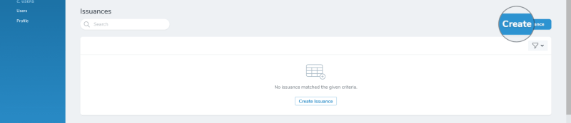 iDelegate | Create new issuance button