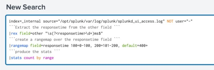 splunk search with comments