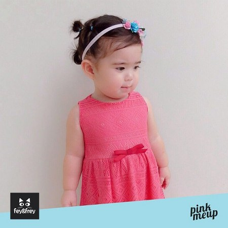 pink me up dress with ribbon