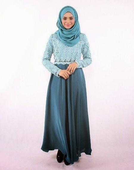 Baju-Gamis-Muslim-Brokat