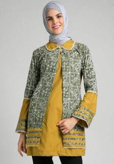 Model Baju Batik Wanita untuk Kerja - Ide Model Busana
