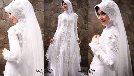 Kebaya-gaun-pengantin-muslim-brukat-putih