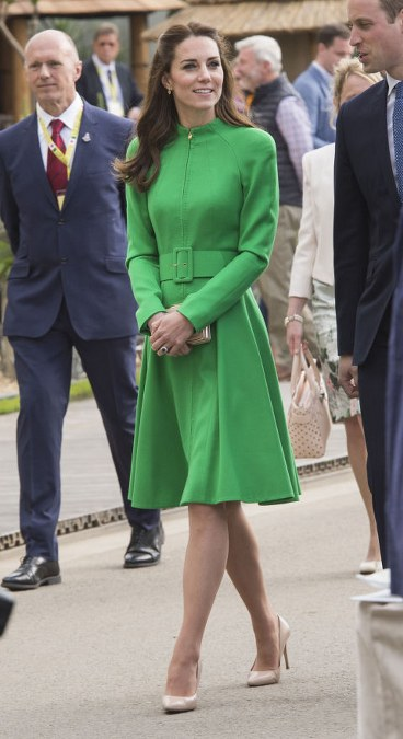 chic belted coat dress by Catherine Walker