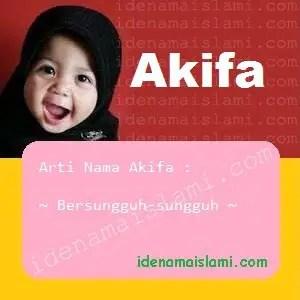 arti nama Akifa