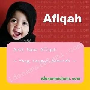 arti nama afiqah