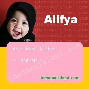 arti nama alifya