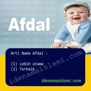 arti nama Afdal