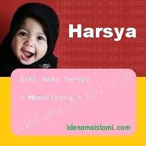 arti nama Harsya