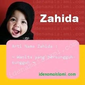 arti nama Zahida