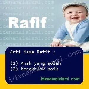 arti nama Rafif