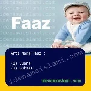 arti nama Faaz