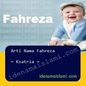 arti nama Fahreza