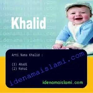 arti nama Khalid