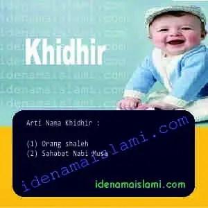 arti nama Khidhir