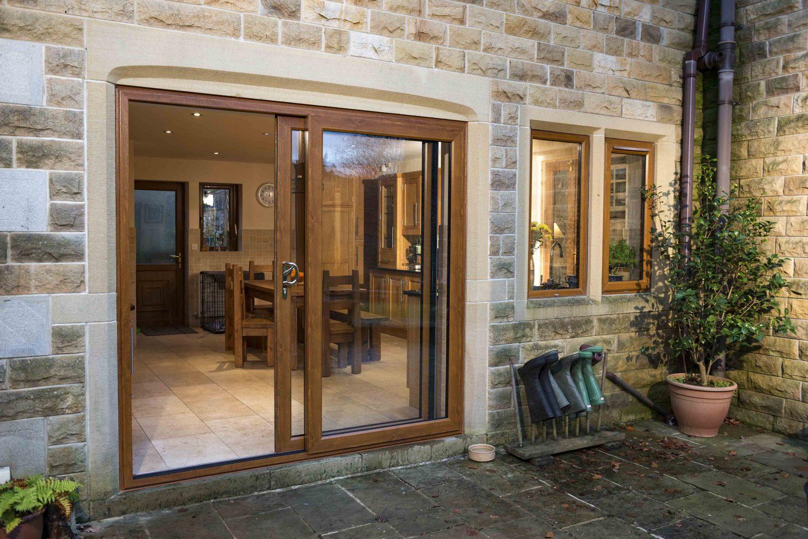 patio doors slide back into view