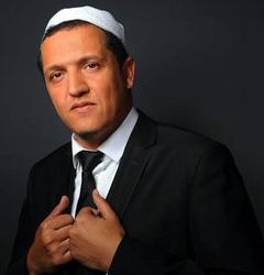 """L'imam franco-tunisien  Hassan Chalghoumi, participe au Forum """"démocratie et religion """" à Tel-Aviv"""