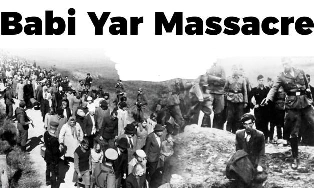 Yom Kippour  coïncide CETTE ANNÉE avec le 79e anniversaire du massacre du camp Babi Yar, 33 000 juifs sont tués en deux jours