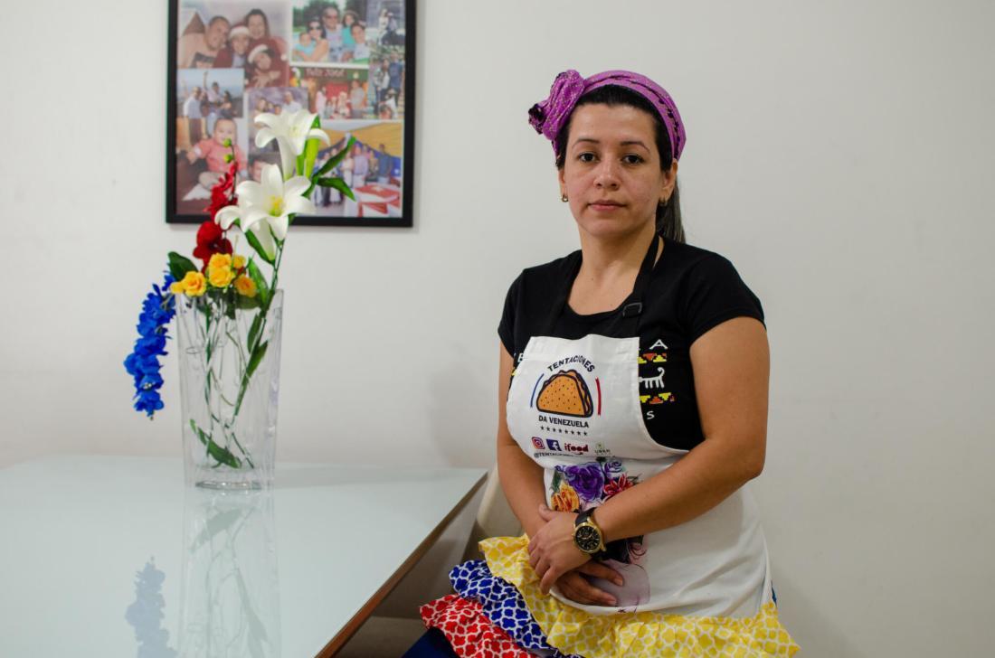 Yilmary Perdomo at home in São Paulo, Brazil. Image credit: Sarita Reed