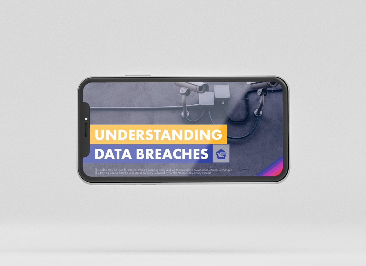 iPhone screen displaying image about data breaches