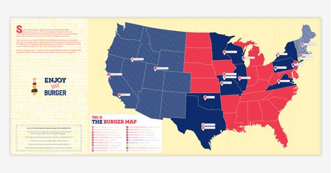 The Burger Map brand identity design