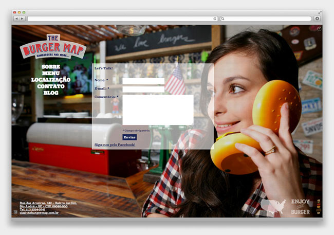 The Burger Map website