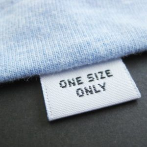 One Size Only Woven Size Pips