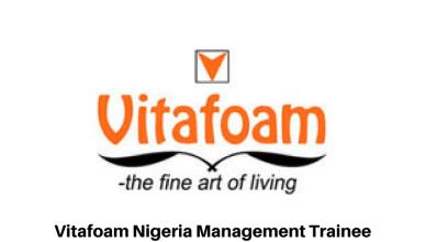 Vitafoam Nigeria Management Trainee Program2018