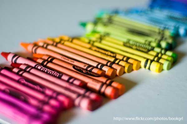 Nama dan Kode Warna Crayon