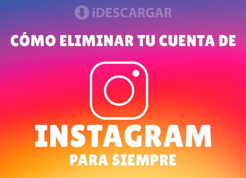 C mo eliminar tu cuenta de instagram para siempre - Como eliminar los ratones para siempre ...