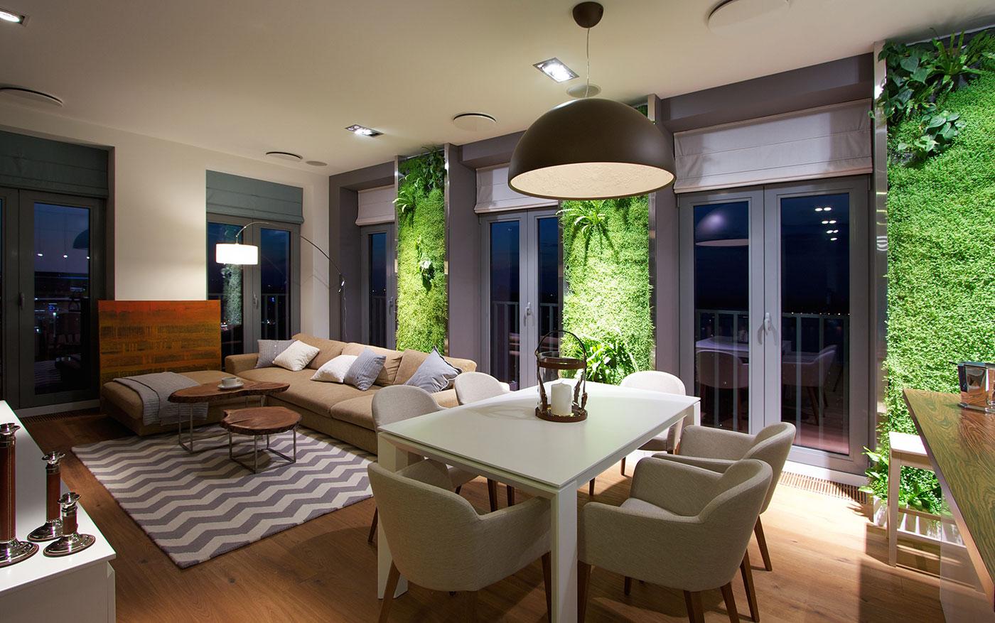 Vertical Gardening Creates An Oasis Inside Contemporary