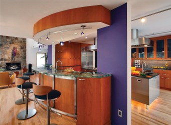 kitchen open decor counter contemporary modern bar deco countertop cabinet kitchens remodel island layout space round cabinets wall table theme