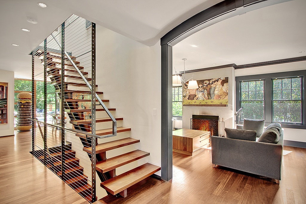 Modern Remodelled Home In Seattle With Whimsical Artwork