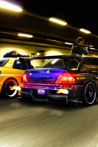 Street Racing Cars Wallpaper With Girls Vehicles Iphone Wallpaper Idesign Iphone