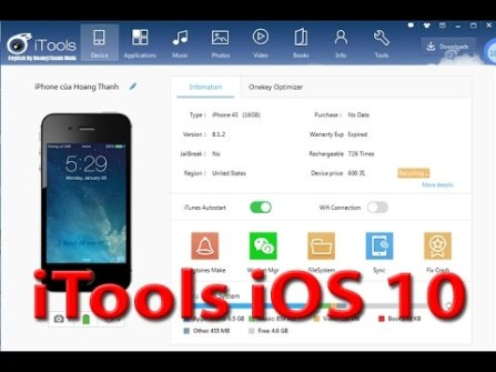 iTools v3.3.7.7 support IOS10