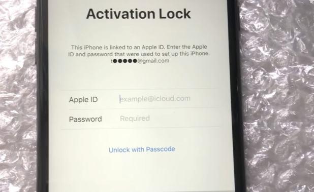 Passcode option to unlock activation screen