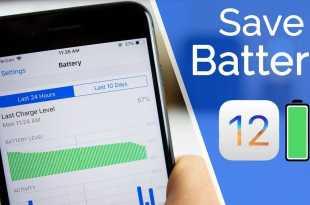 Saving battery iOS 12