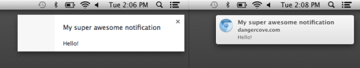 Google Chrome Rich Mac Notifications