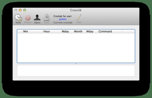 Cronnix untuk OS X