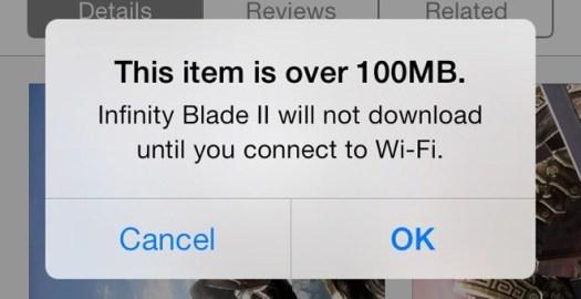 Batas Download jadi 100MB iOS