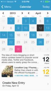 Day One Tampilan Kalender