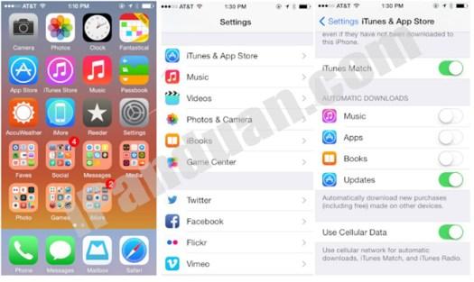 Cloud, iCloud, Download otomatis