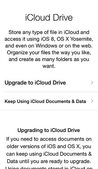 iCloud Drive - iOS 8 Beta 3