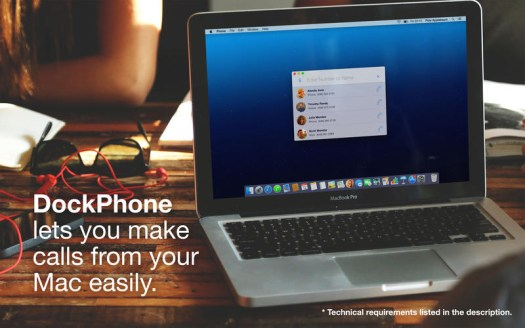Aplikasi telepon via MAC, DockPhone
